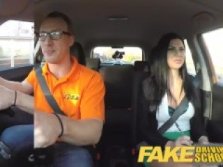 Fake Driving Male Learner fucking his female driving examiner