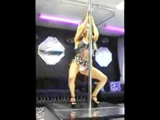 Latin Slut Pole Dances & Blows Her Client