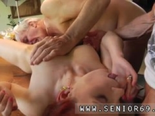 Old man gang bang creampie first time Minnie Manga licks breakfast with