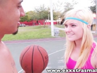 ExxxtraSmall Young petite Chloe Foster sucks fucks big dick