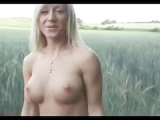 Blonde in a Field and in a Dressing Room