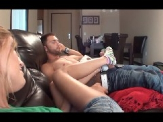 FTF – lazy day footjob with Veronica and Amanda