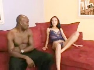 Tightest ebony rides big black cock