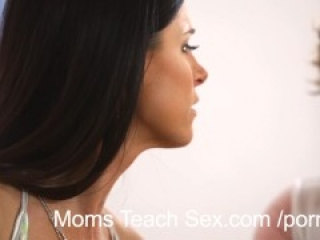 With dads away hot stepmoms play