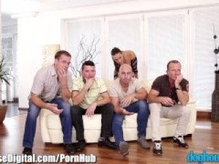 Czech Babe DP'd by a Bunch of Euro Cocks