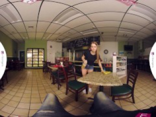 "VRBangers.com-Hot teen waitress Jill has a special ""dish"" for your cock VR"