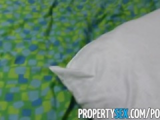 PropertySex - Beautiful realtor blackmailed into sex renting office space