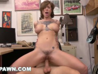 XXX PAWN - Tattooed Babe Harlow Harrison Riding Dick Big Tits Faced Forward