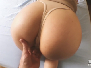 Rosie's first sex video - fucks with anal plug - massive cum load on ass