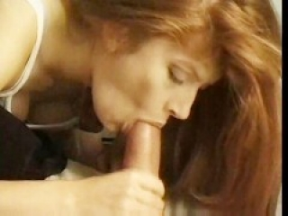 Red Head Babe Sucks For A Facial
