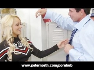 Cheerleader Briana Blair Locker Room Fuck and Facial