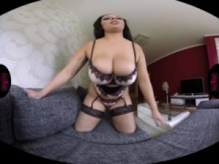 RealityPussy.com - Big tits, big ass and a big dildo. Brunette teasing you!