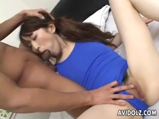 Asian brunette fucked from the back doggystyle so hard