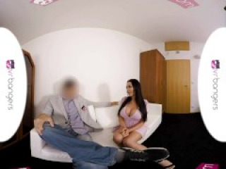 VR PORN - Busty Patty Michova Casting Couch Gets Wild