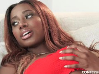 Big Tits Ebony Babe Kinsley Karter Finally Gets To Taste A Hard White Cock