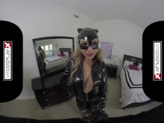 VR Sex With A Hot Catwoman Carmen Caliente Only on VRCosplayX.com