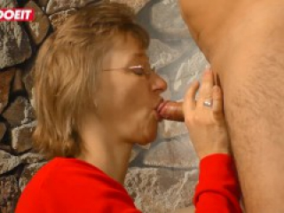 LETSDOEIT - Hot German Granny Fucked Hard While Home Alone