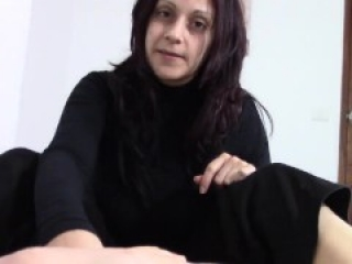 Spanish Mom Footjob