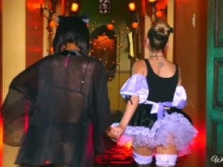 When Girls Play - Naughty halloween games with Chanell Heart and Karla Kush