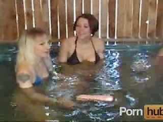 Lesbian Heaven in the pool
