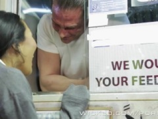 Wicked - Asa Akira gets some food truck cock