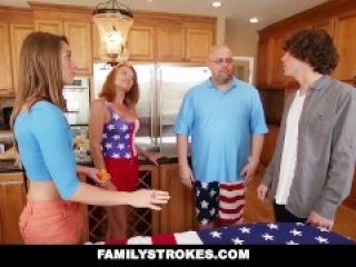 FamilyStrokes - 4th Of July BBQ Turns Into Sibling Fuckfest