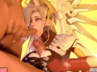 Dva and Mercy XXX collection with blowjobs