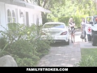 FamilyStrokes - Smoking Hot Mom Bails Out Son To Fuck