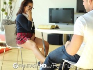 Little student slut Morgan Lee wants to be fucked - FantasyHD