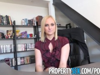 PropertySex - Hot blonde real estate agents lands new client
